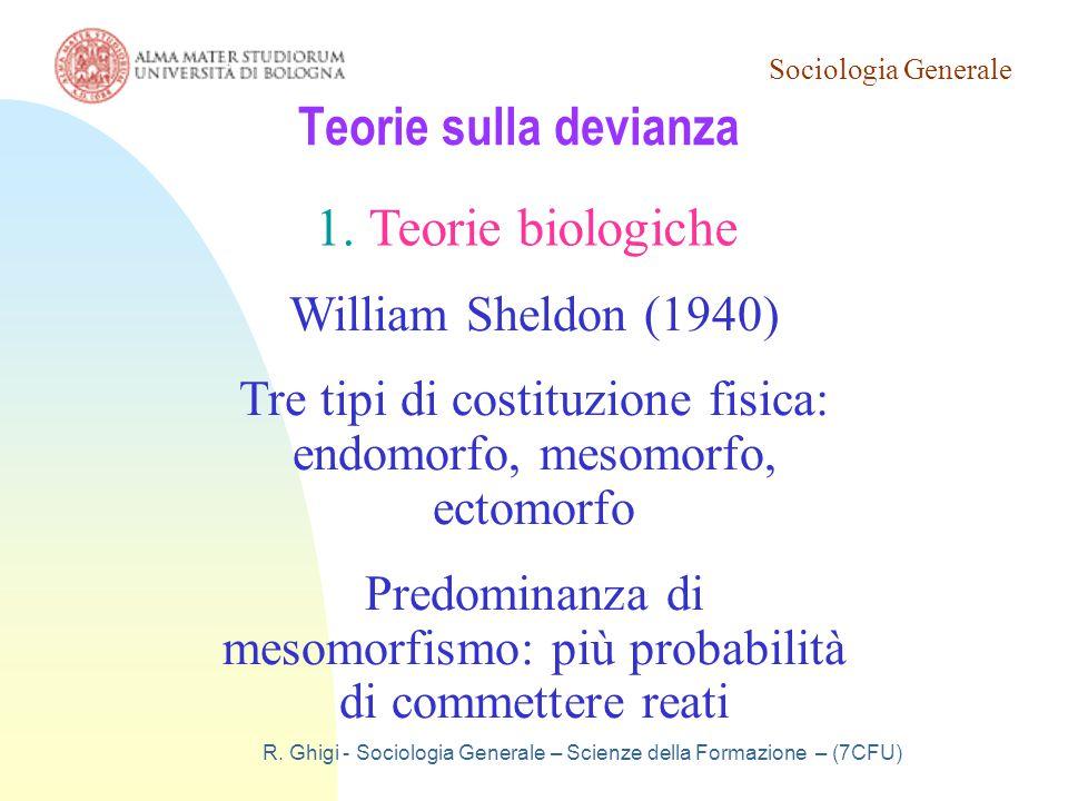 Teorie sulla devianza Teorie biologiche William Sheldon (1940)