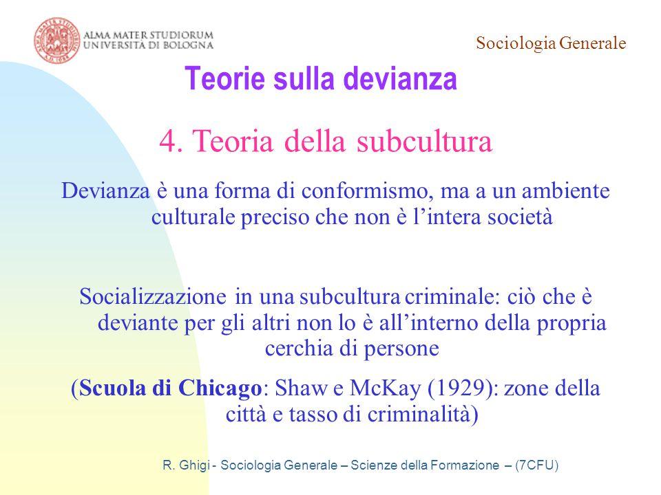 4. Teoria della subcultura
