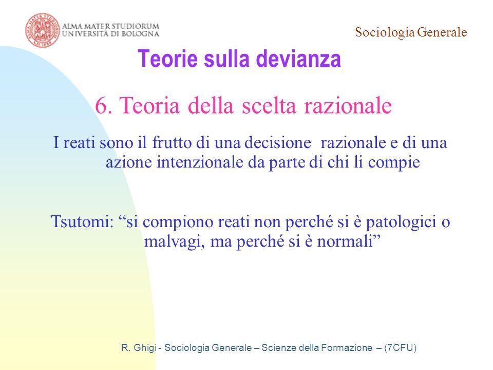 6. Teoria della scelta razionale