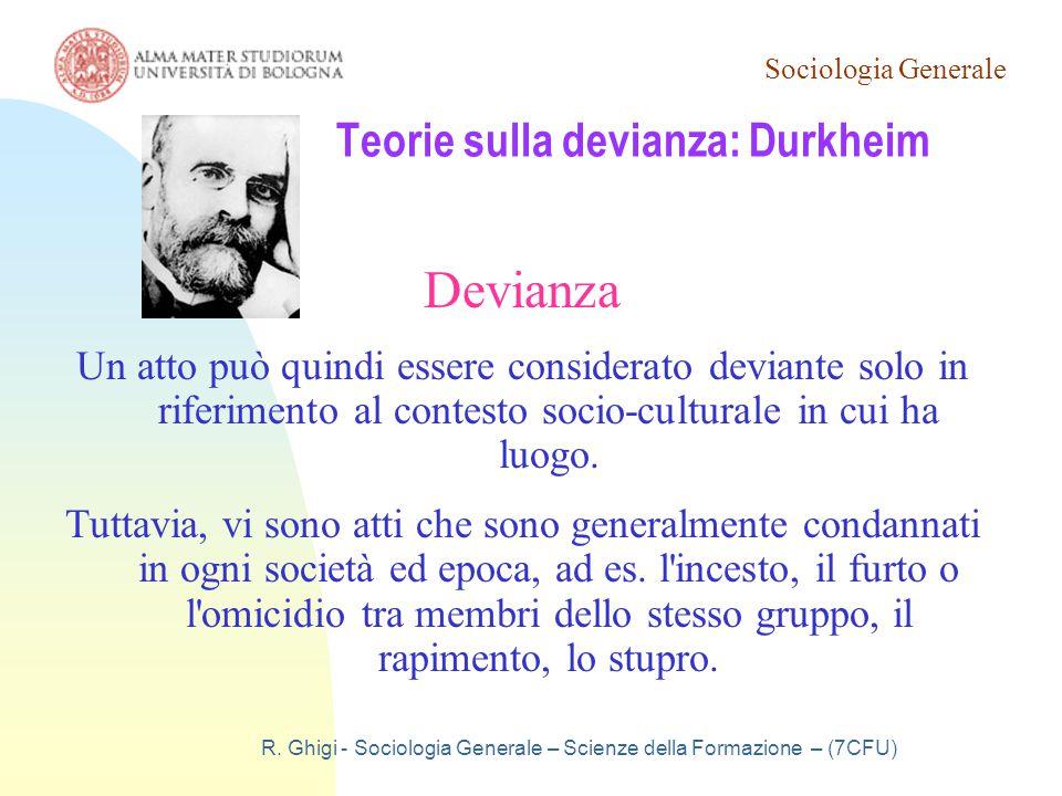 Teorie sulla devianza: Durkheim