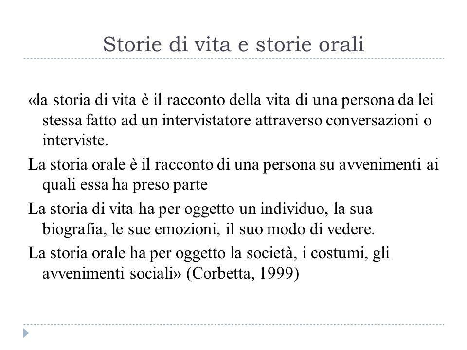 Storie di vita e storie orali