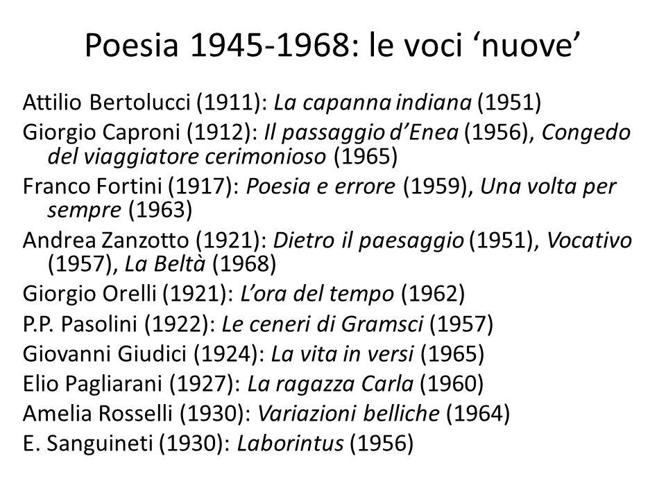 Poesia 1945-1968: le voci 'nuove'