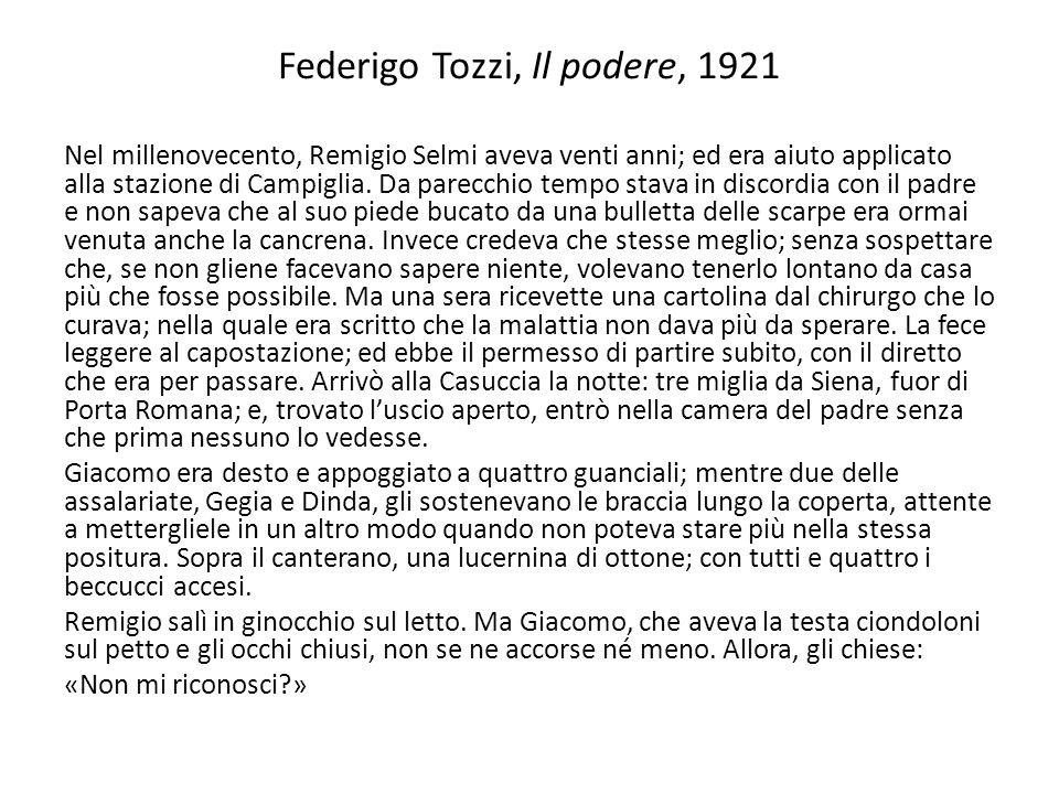 Federigo Tozzi, Il podere, 1921