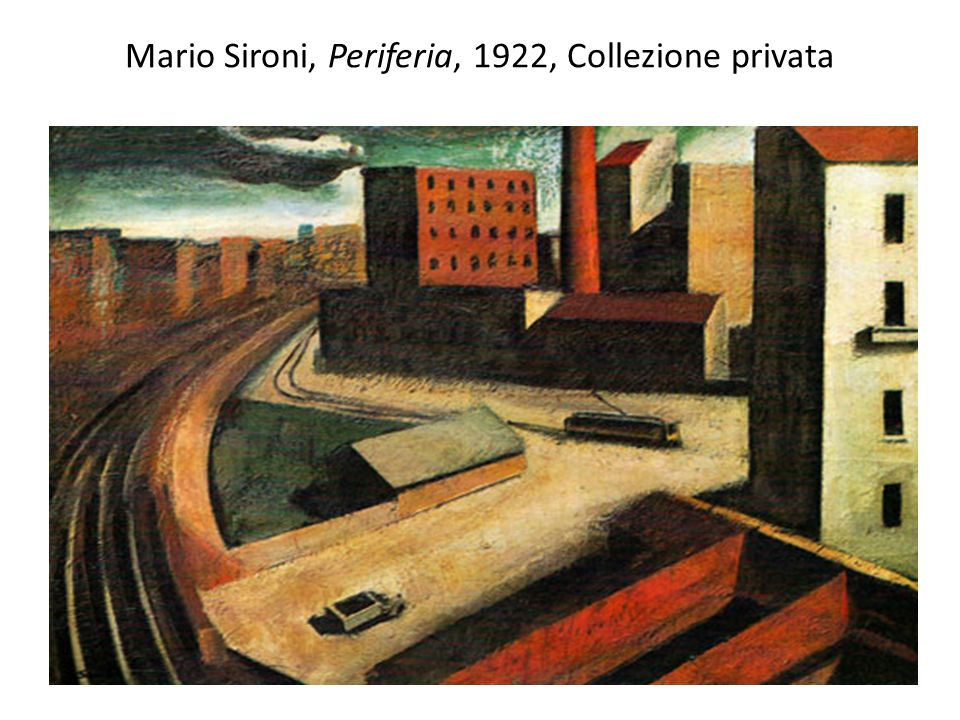 Mario Sironi, Periferia, 1922, Collezione privata