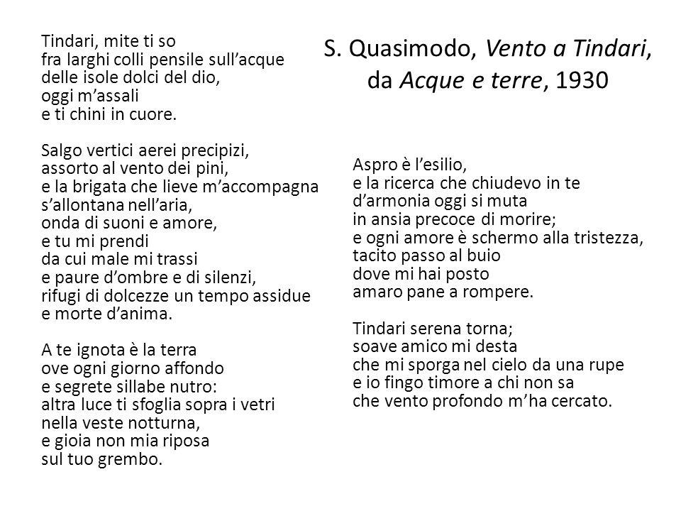 S. Quasimodo, Vento a Tindari, da Acque e terre, 1930