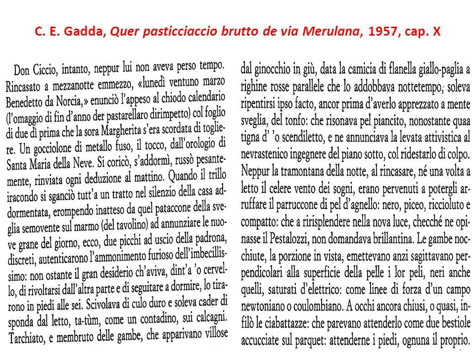C. E. Gadda, Quer pasticciaccio brutto de via Merulana, 1957, cap. X