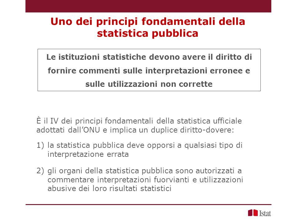 Uno dei principi fondamentali della statistica pubblica