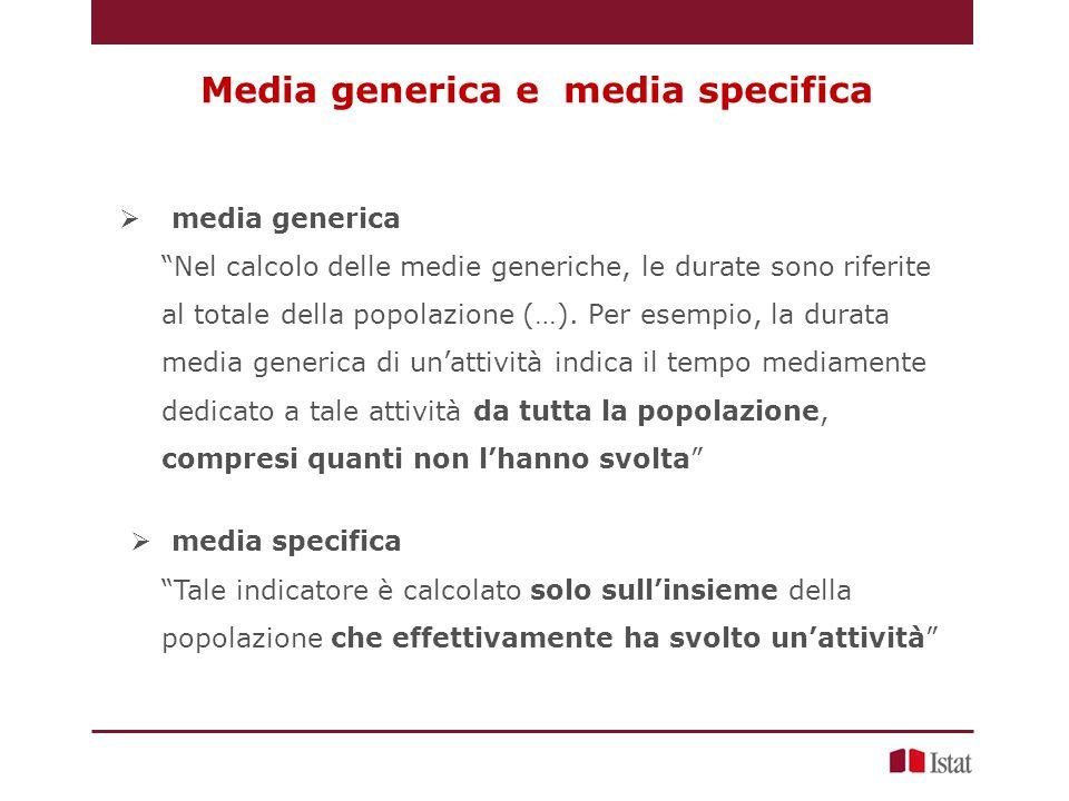 Media generica e media specifica