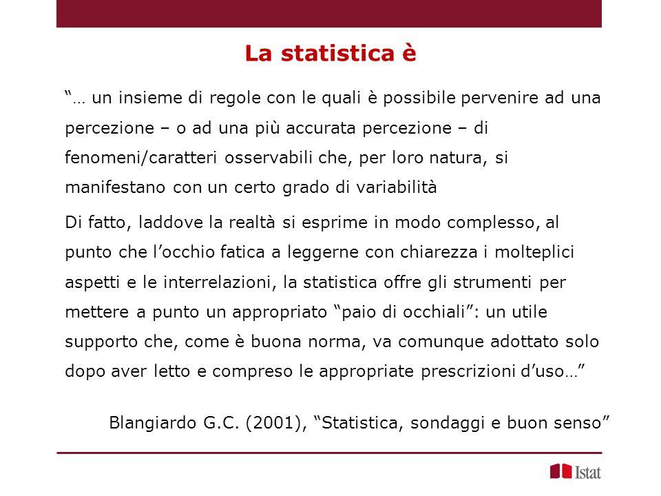 La statistica è