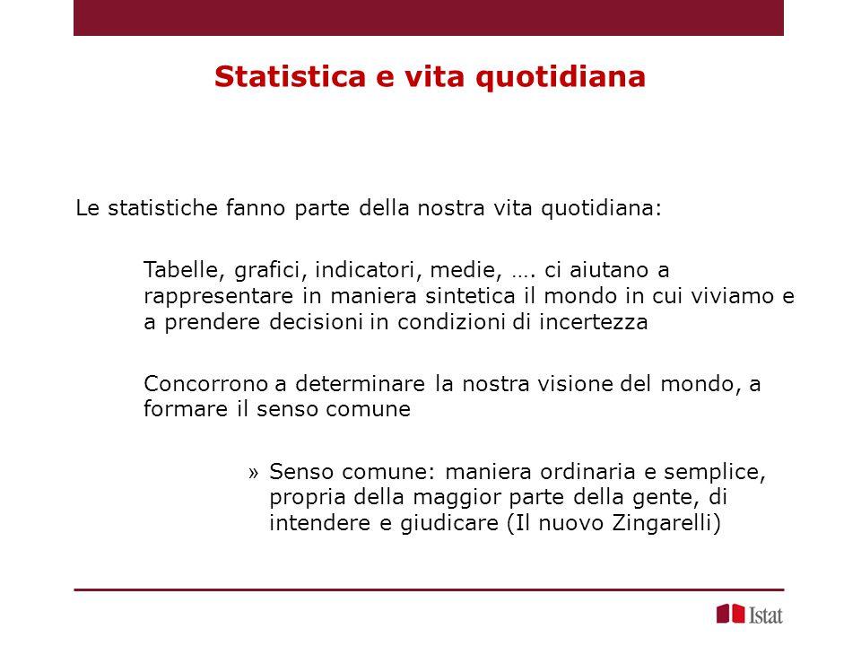 Statistica e vita quotidiana