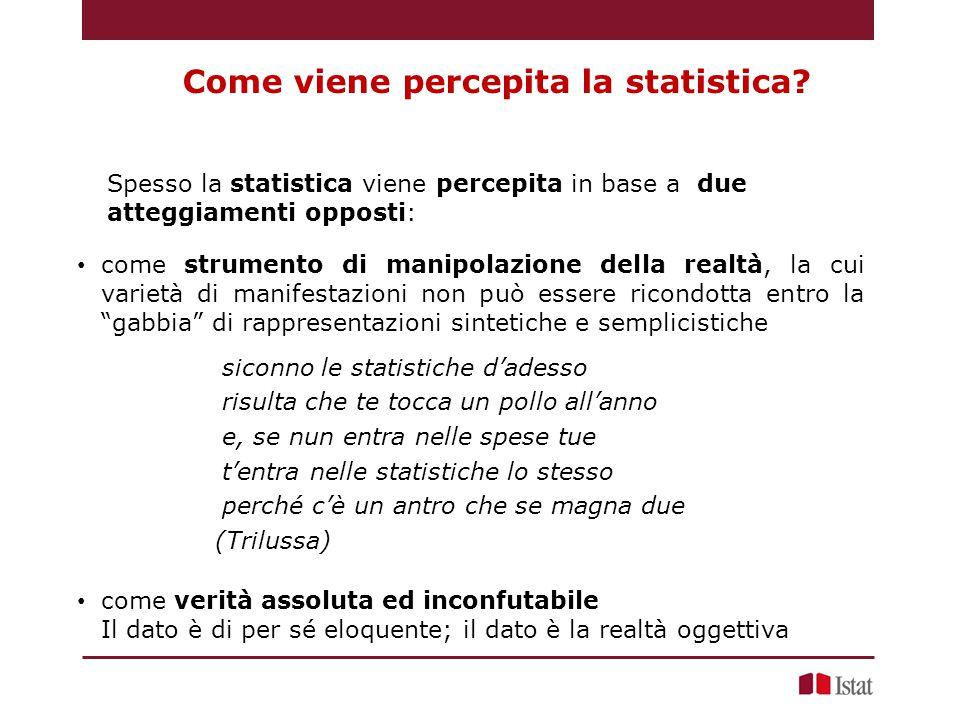Come viene percepita la statistica