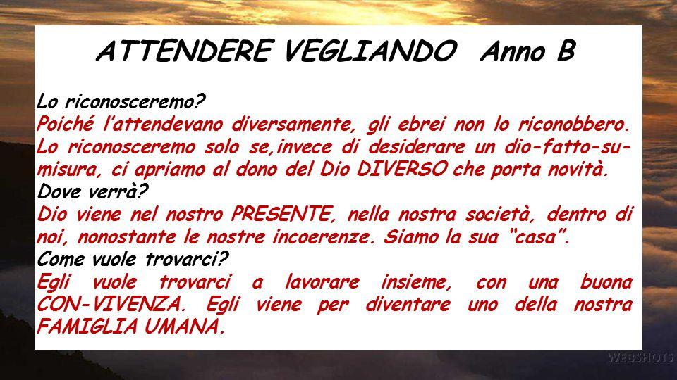 ATTENDERE VEGLIANDO Anno B