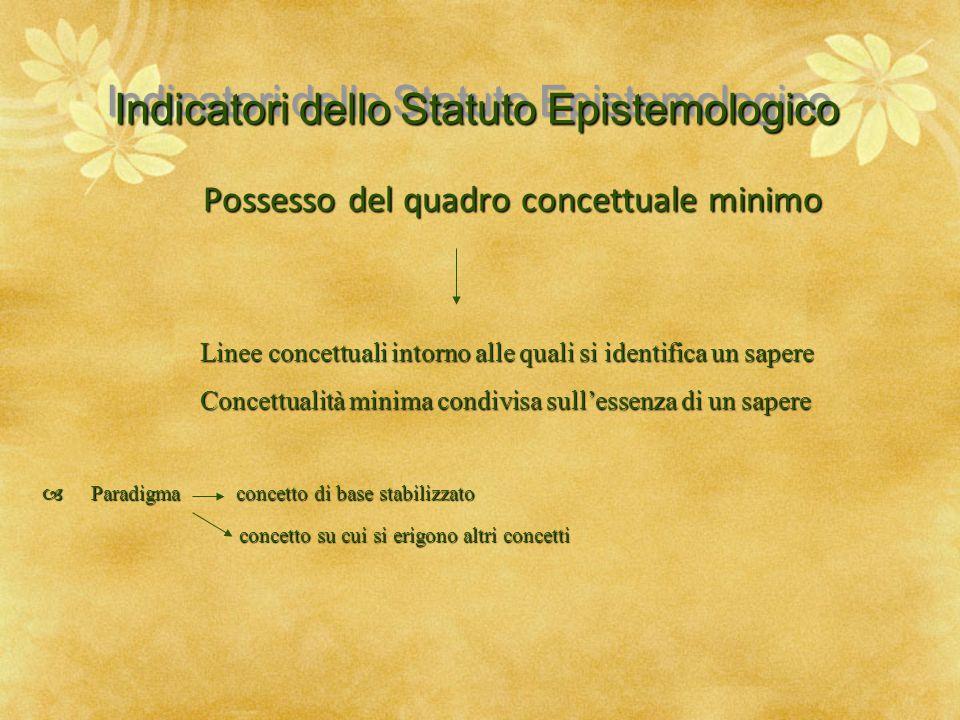 Indicatori dello Statuto Epistemologico