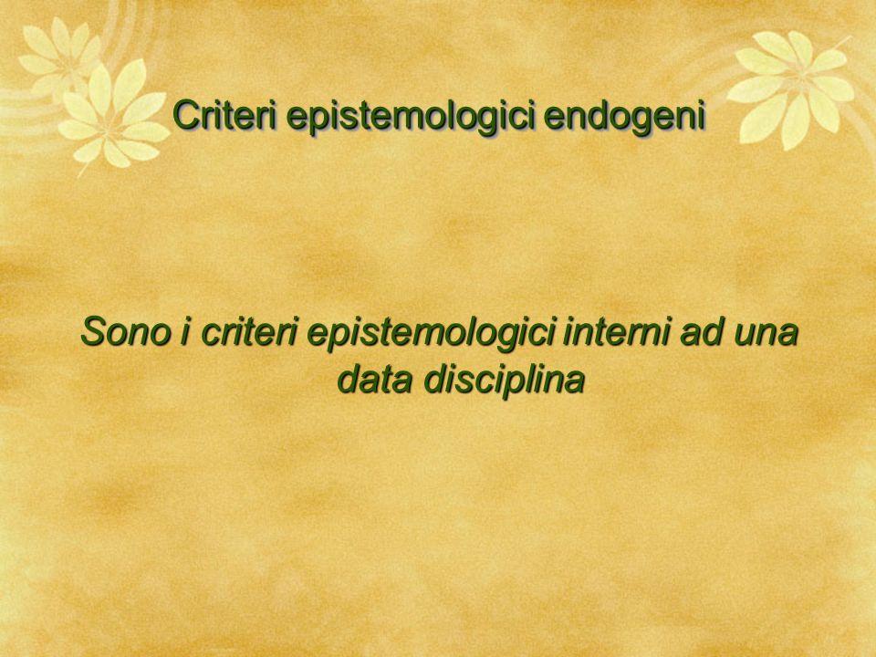 Criteri epistemologici endogeni