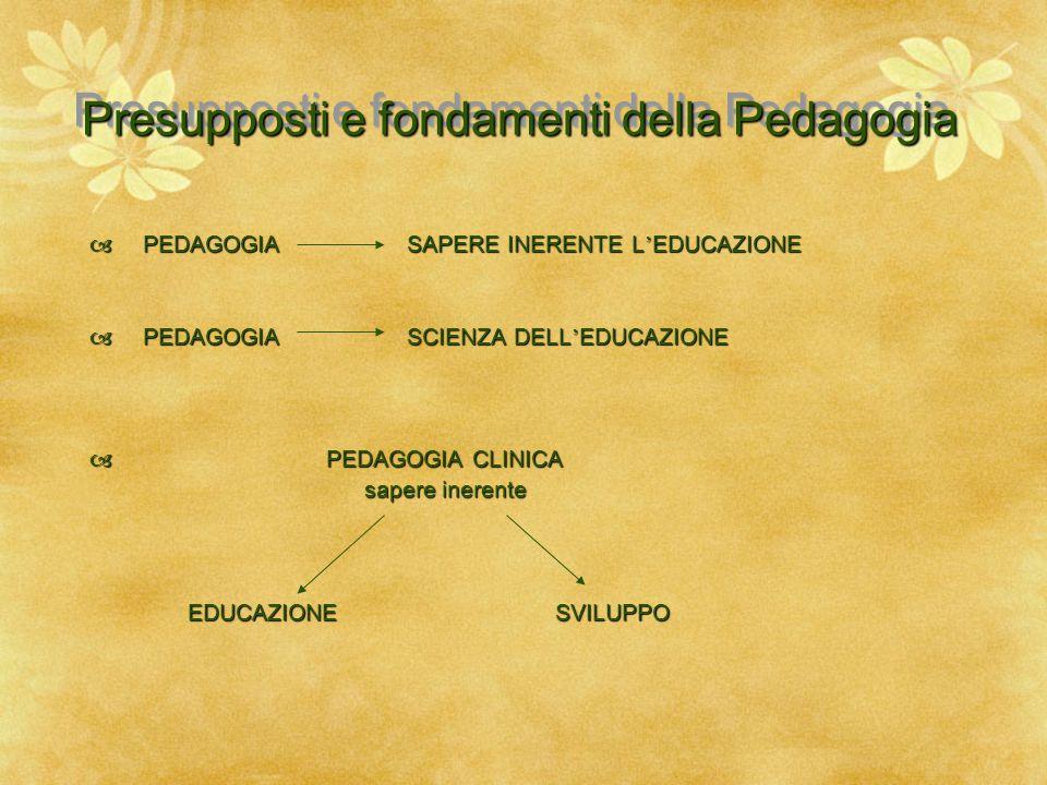 Presupposti e fondamenti della Pedagogia