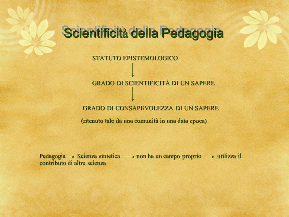 Scientificità della Pedagogia