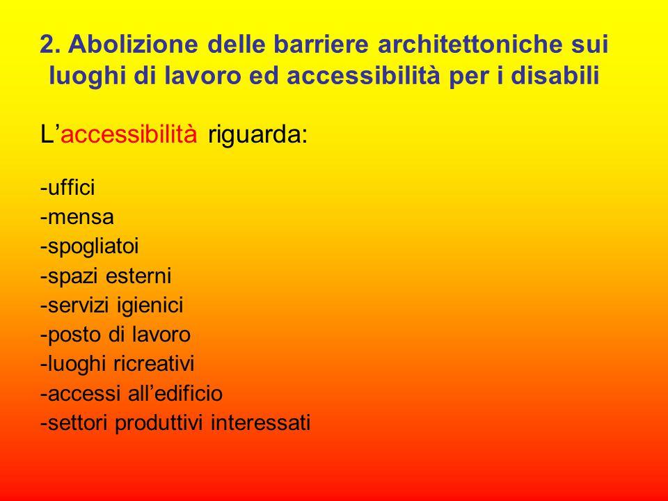 L'accessibilità riguarda: