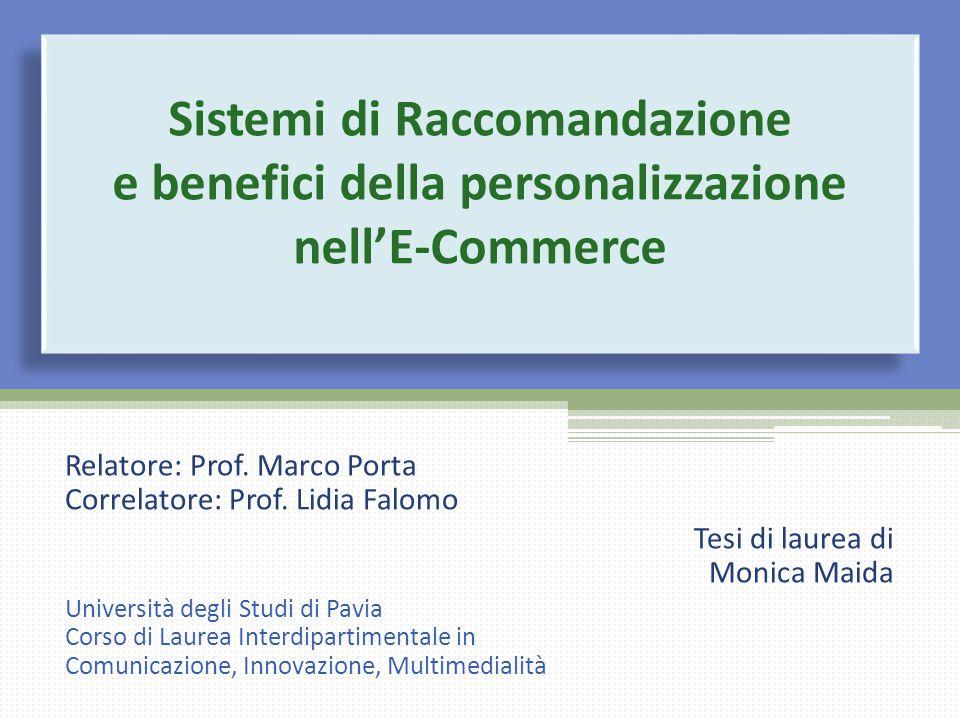 Sistemi di Raccomandazione e benefici della personalizzazione nell'E-Commerce
