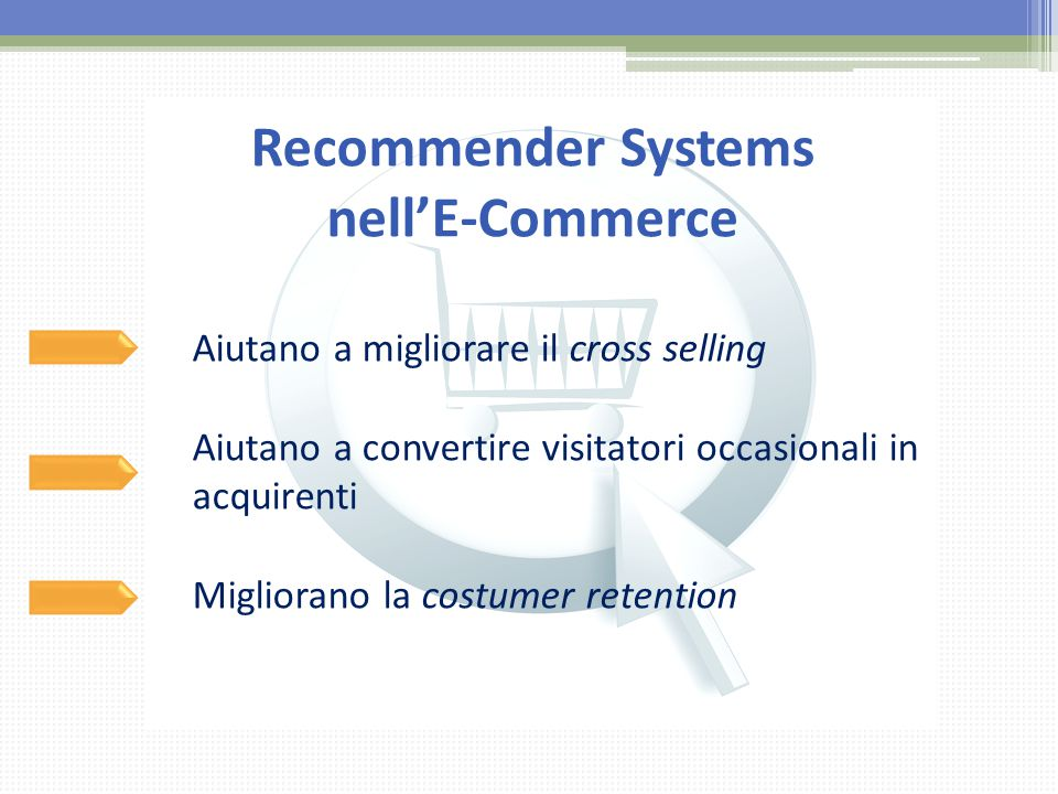Recommender Systems nell'E-Commerce