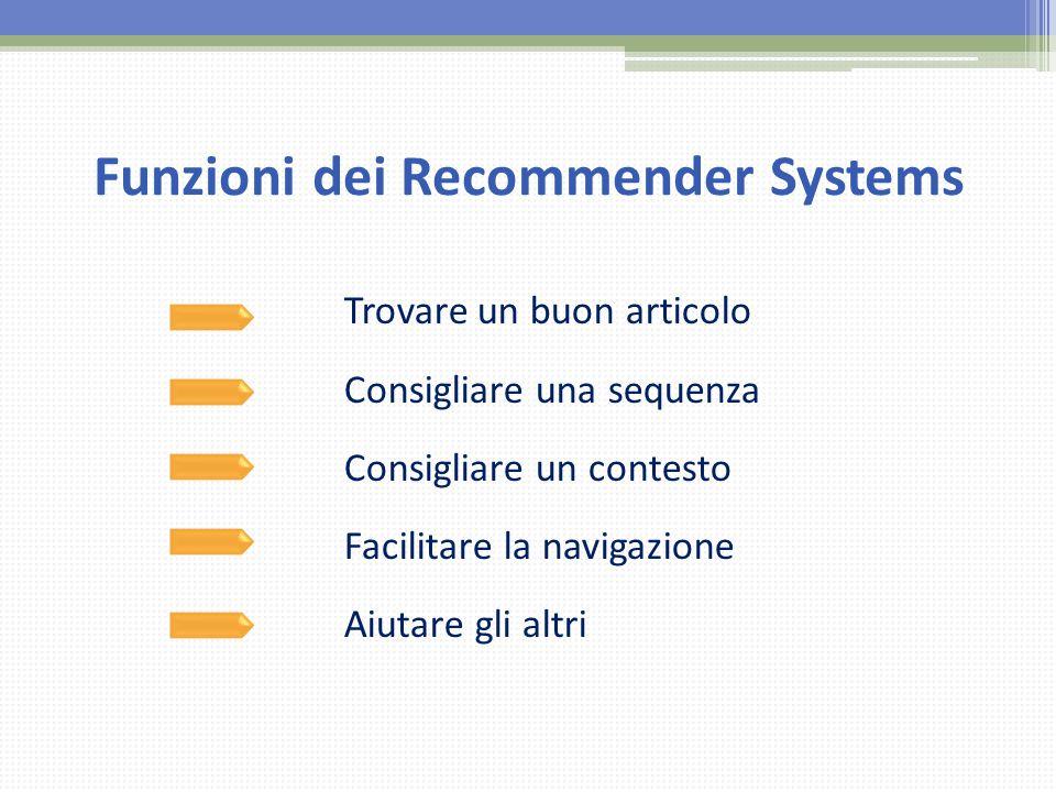Funzioni dei Recommender Systems