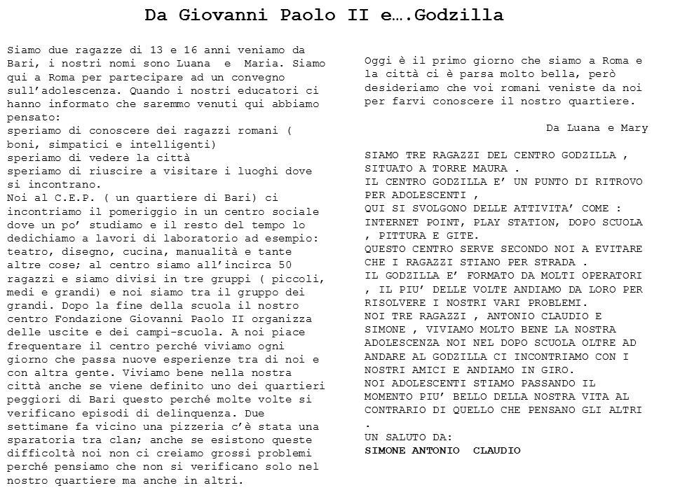 Giovanni Paolo II e Godzilla