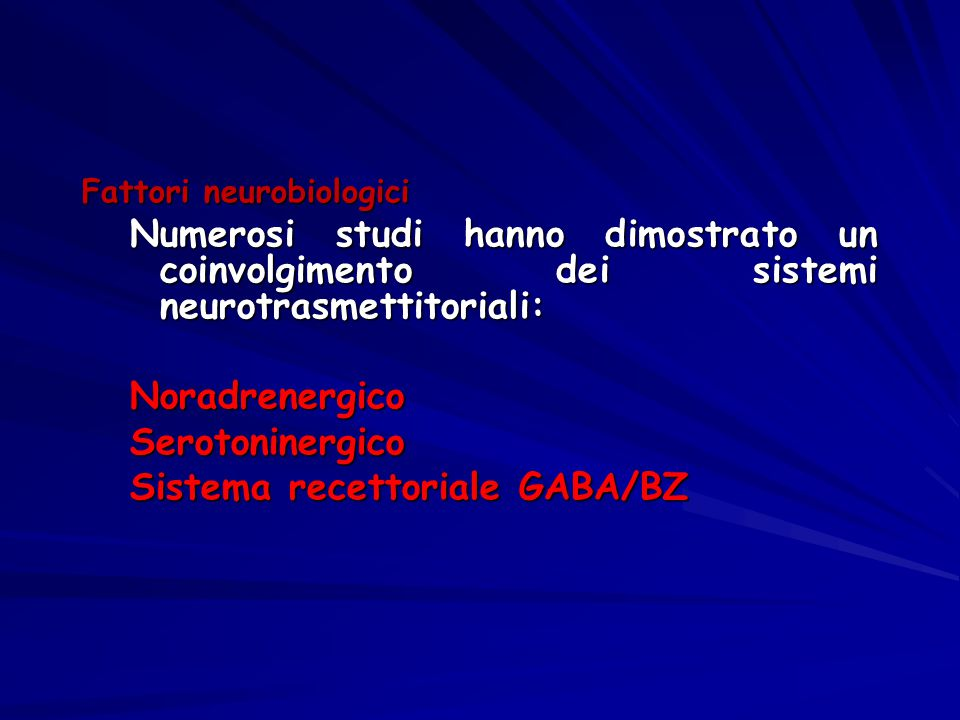 Sistema recettoriale GABA/BZ