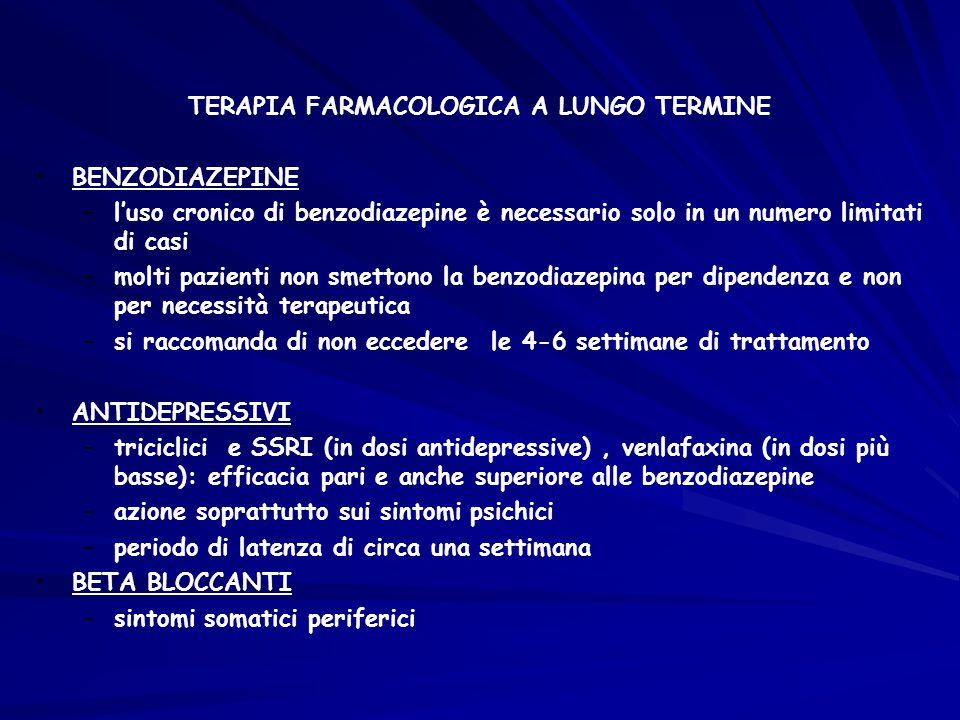 TERAPIA FARMACOLOGICA A LUNGO TERMINE