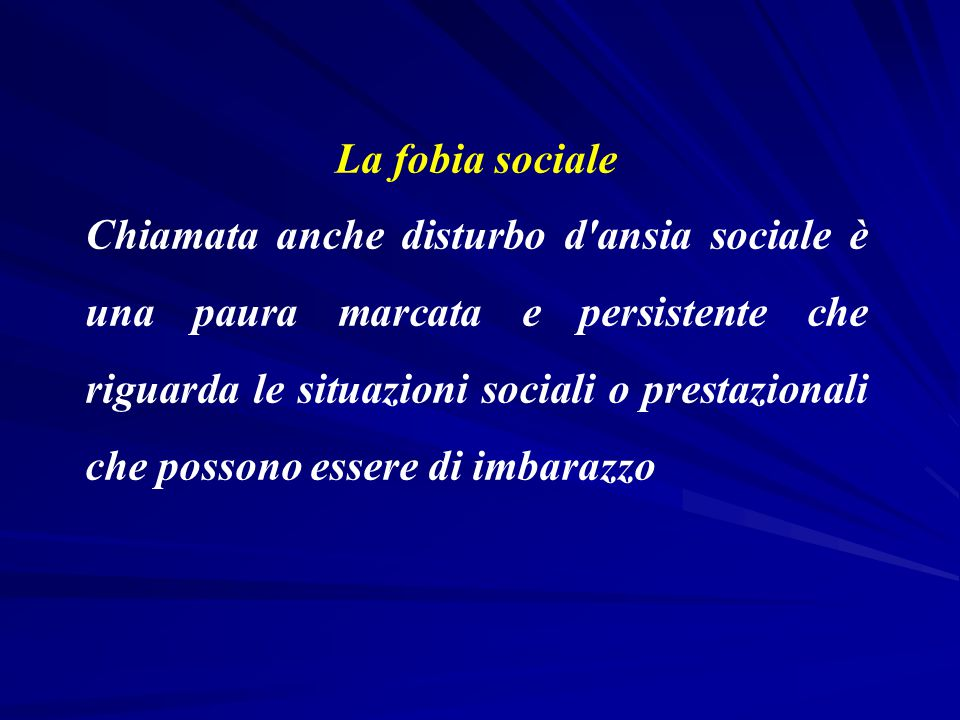 La fobia sociale