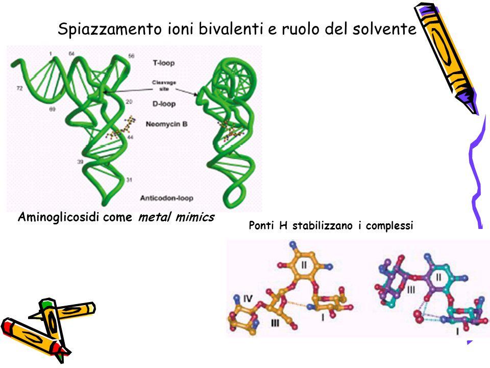 Spiazzamento ioni bivalenti e ruolo del solvente