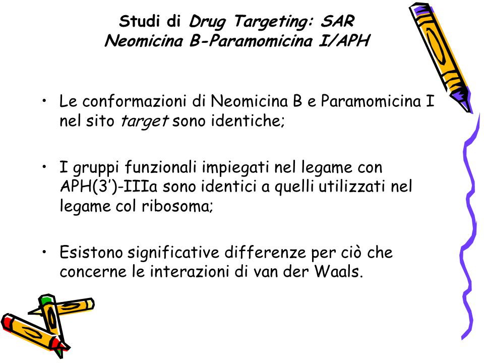 Studi di Drug Targeting: SAR Neomicina B-Paramomicina I/APH