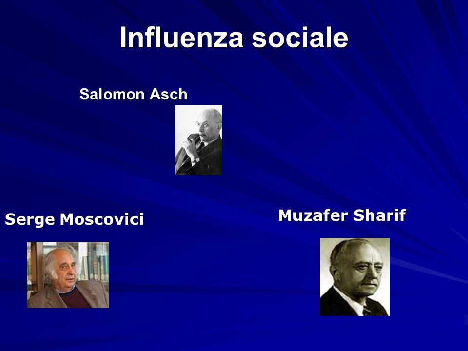 Influenza sociale Salomon Asch Muzafer Sharif Serge Moscovici