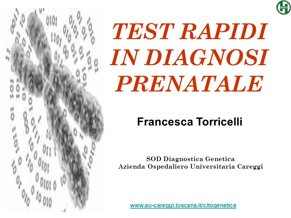 TEST RAPIDI IN DIAGNOSI PRENATALE
