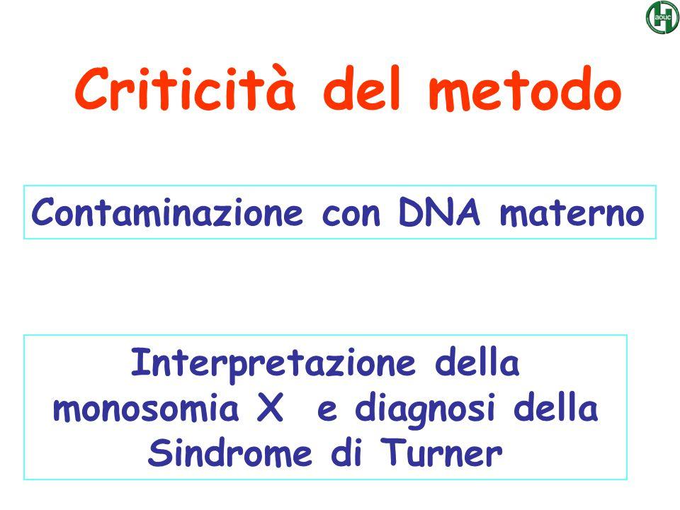 Interpretazione della monosomia X e diagnosi della Sindrome di Turner