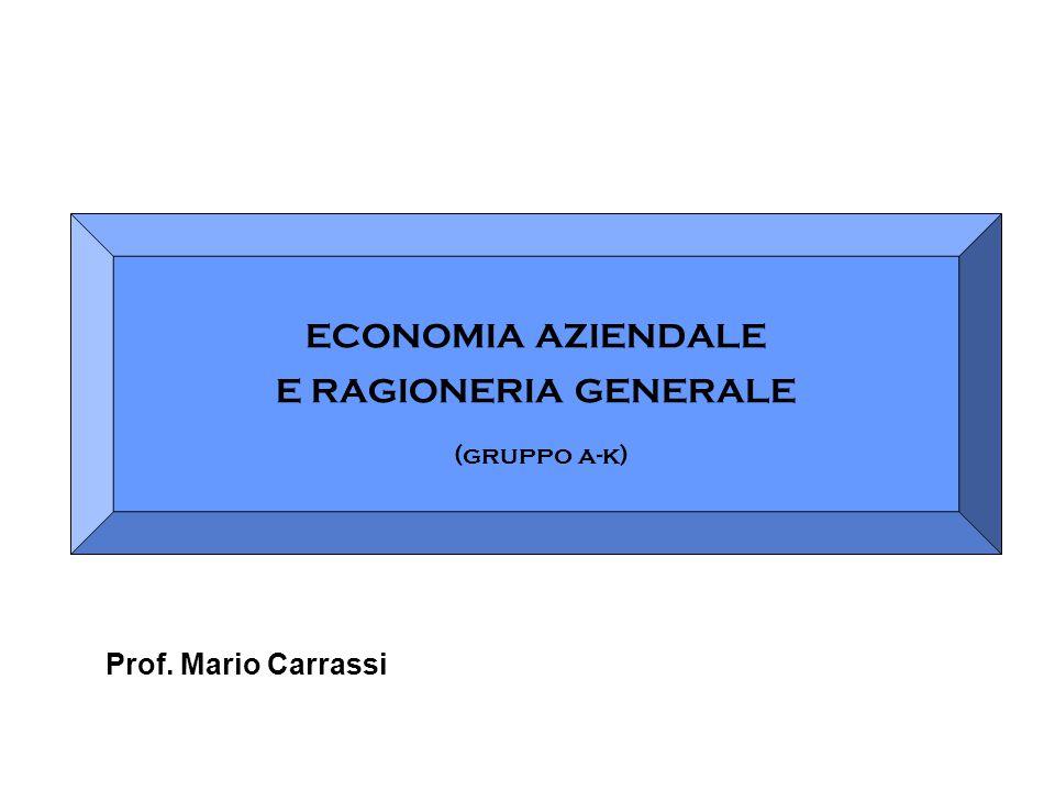 ECONOMIA AZIENDALE E RAGIONERIA GENERALE (gruppo a-k)