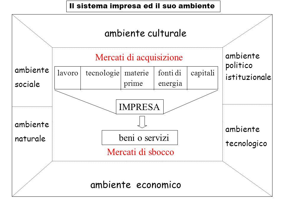 Il sistema impresa ed il suo ambiente