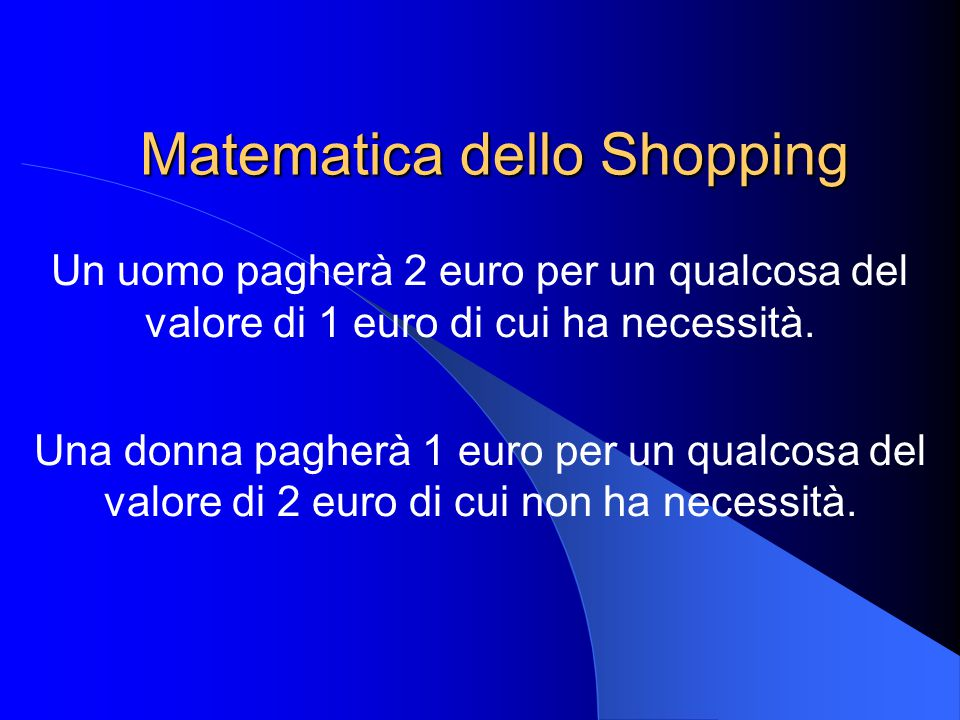 Matematica dello Shopping