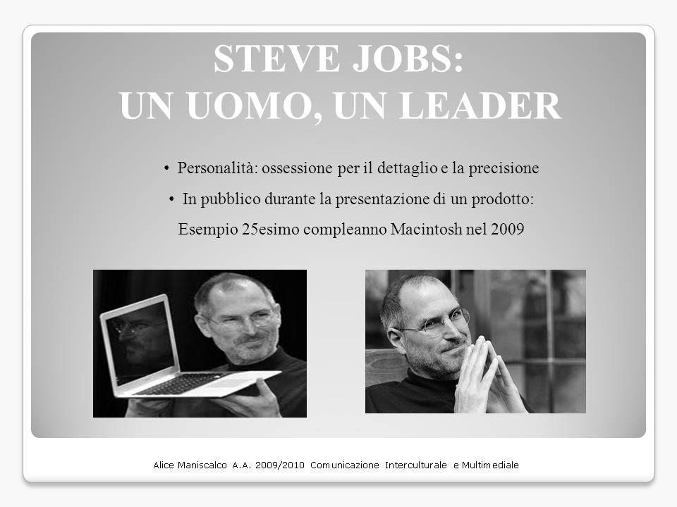 STEVE JOBS: UN UOMO, UN LEADER