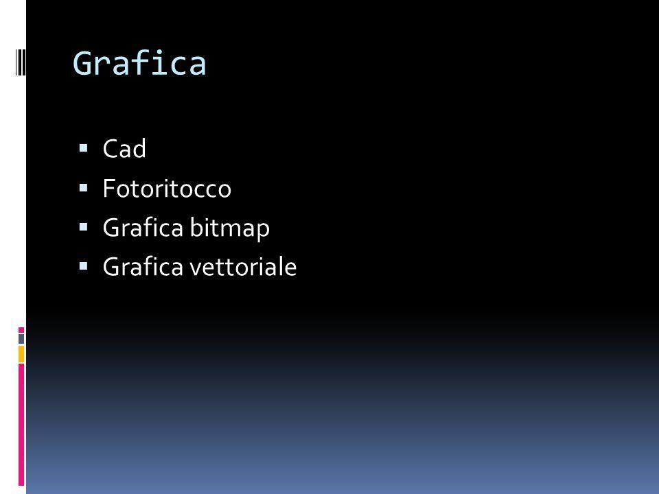 Grafica Cad Fotoritocco Grafica bitmap Grafica vettoriale