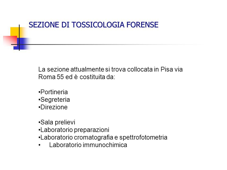 SEZIONE DI TOSSICOLOGIA FORENSE