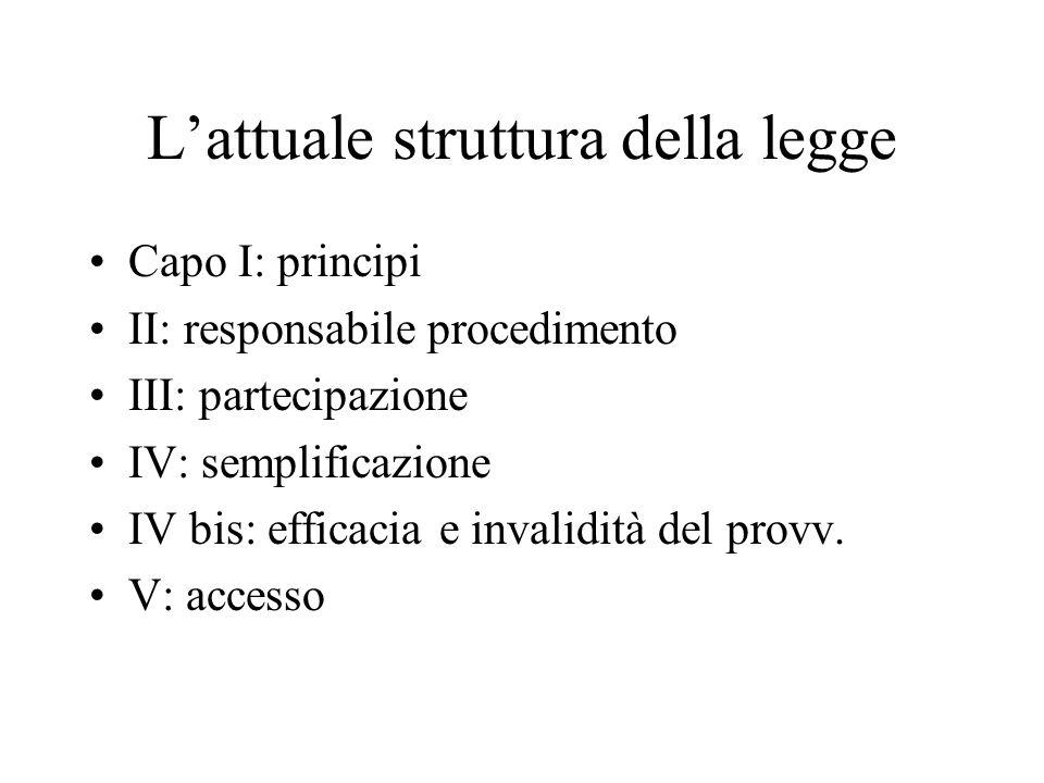 L'attuale struttura della legge