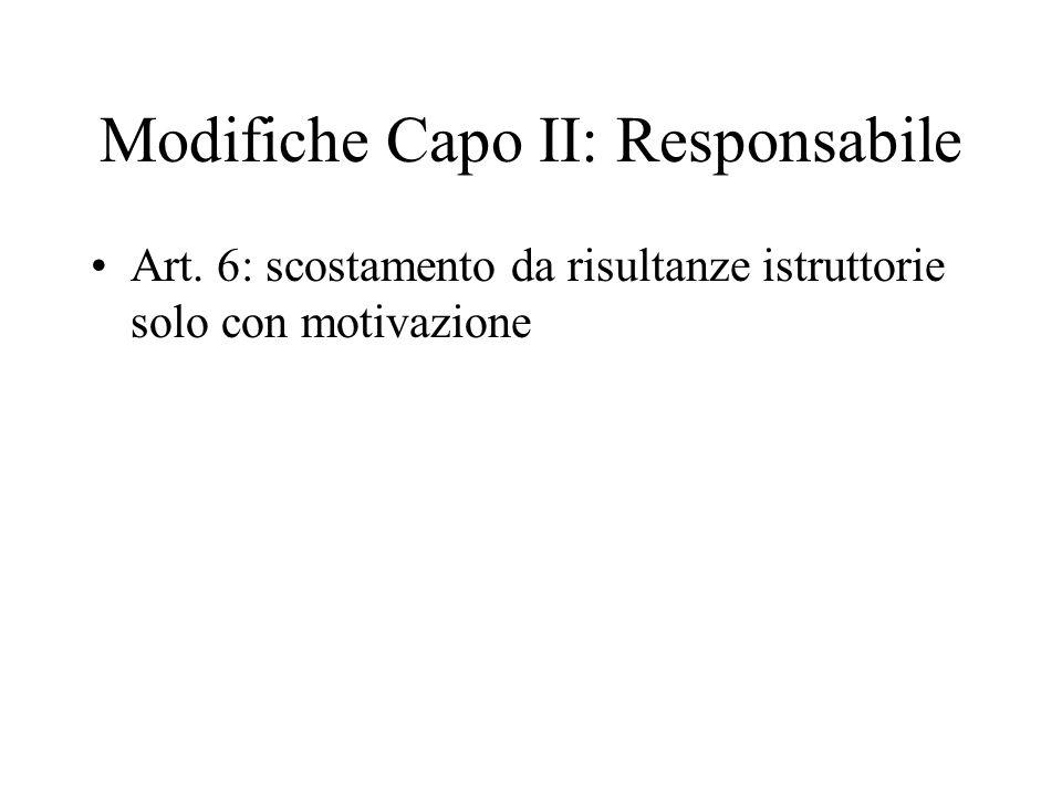 Modifiche Capo II: Responsabile
