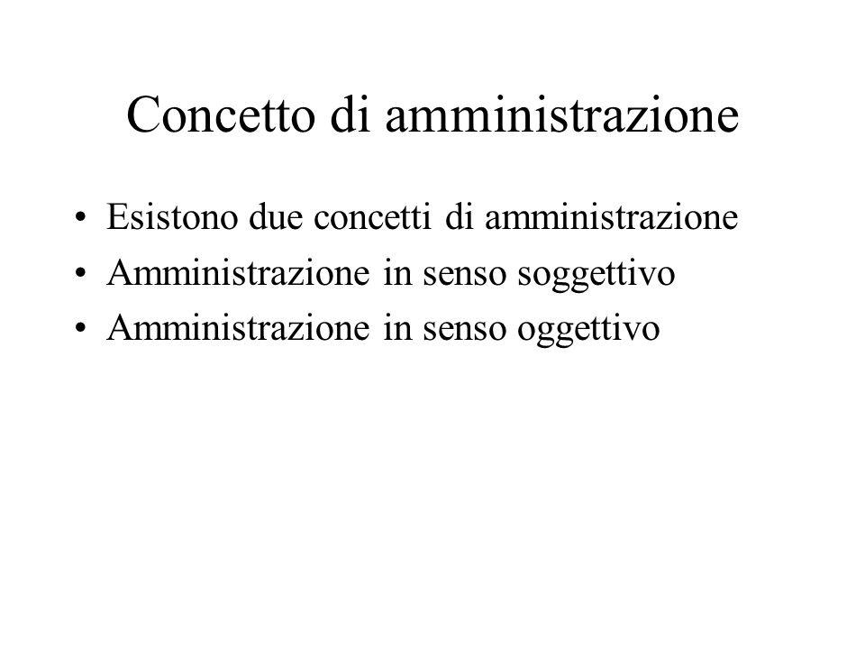 Concetto di amministrazione