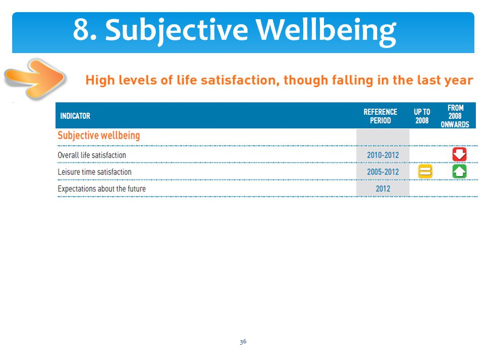 8. Subjective Wellbeing