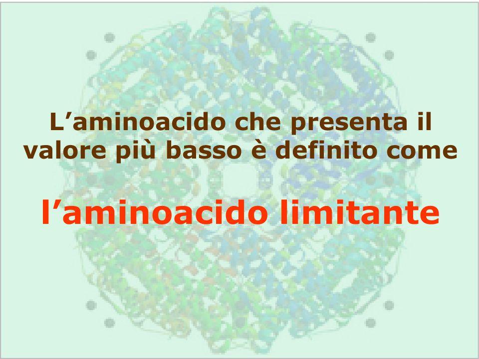 l'aminoacido limitante