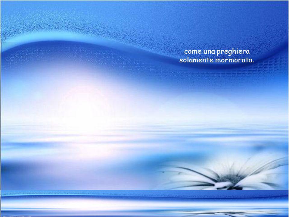 Blu, come il profumo di un fiore pitturato sulla tela