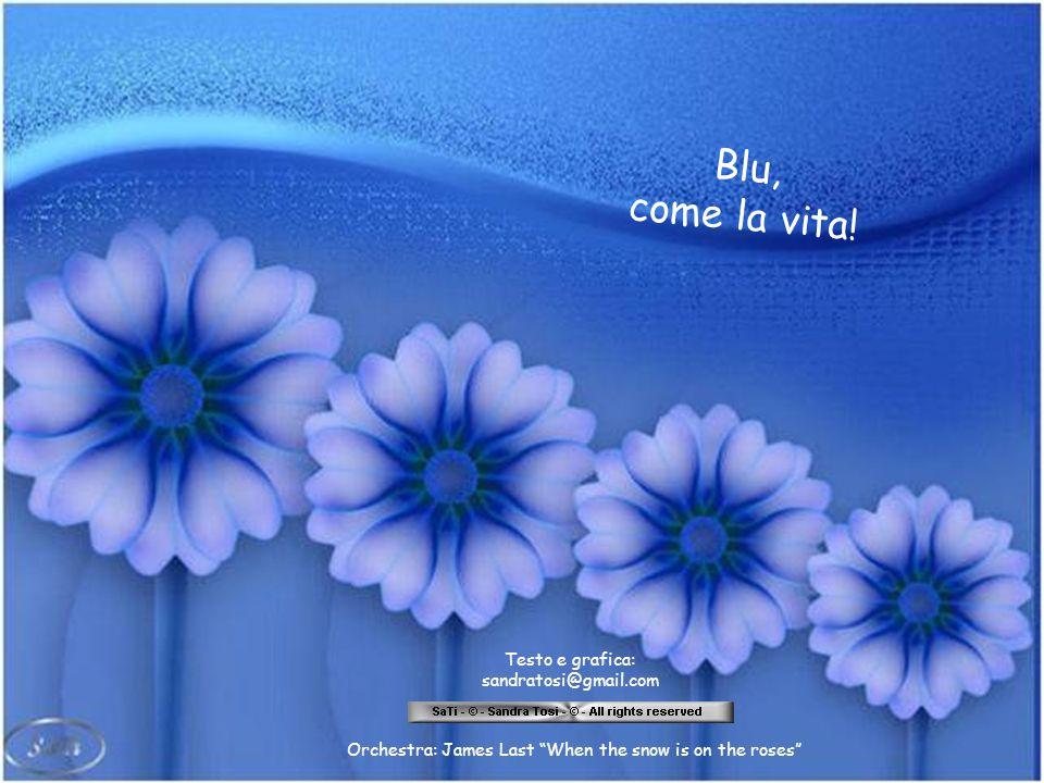 Blu, come la vita! Blu, come il sogno del domani in attesa,