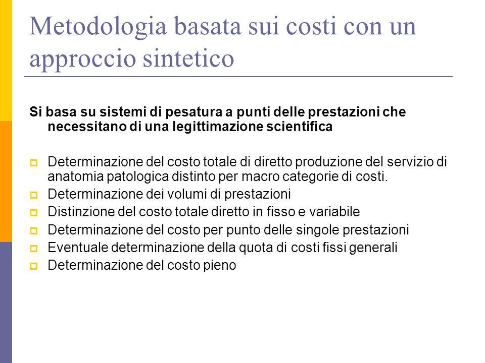 Metodologia basata sui costi con un approccio sintetico