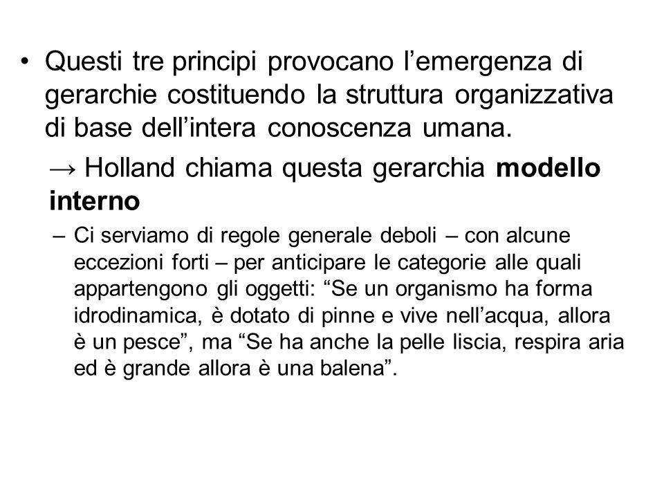 → Holland chiama questa gerarchia modello interno