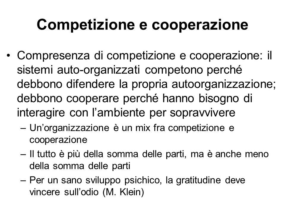 Competizione e cooperazione