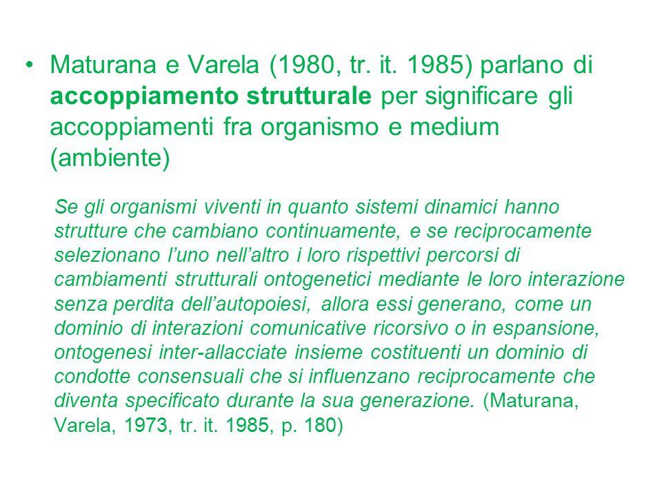 Maturana e Varela (1980, tr. it